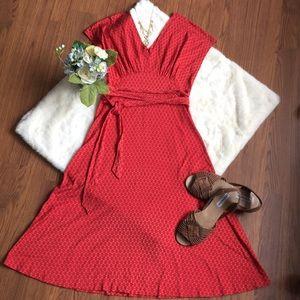 Banana Republic Red A-line Dress